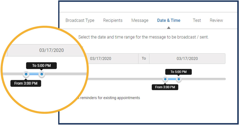 build and schedule multiple messages